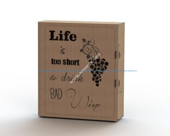 Laser cut wine box plans