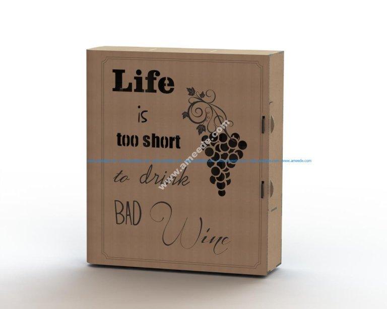 Laser cut wine box plans