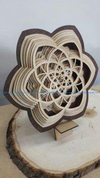 Layered Wooden Sculptures Flower