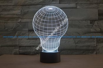 Light Bulb 3D LED Illusion Night Light Lamp