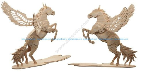 Magical Pegasus (Flying Horse) CNC Laser Pattern L 12 mm