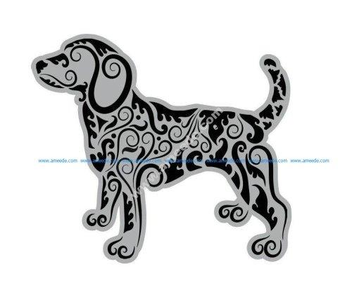 Mandala Style Dog