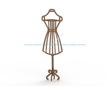 Mannequin MDF Dress Form Laser Cut 6mm