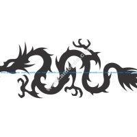Medieval Hollow Tribal Dragon Tattoo Vector
