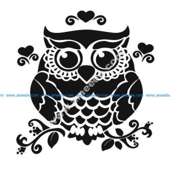 Owl On Branch Silhouette
