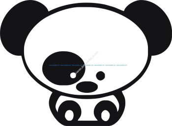 Panda Car Sticker Vector