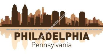 Philadelphia skyline city silhouette vector