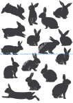 Rabbit Silhouette Vectors