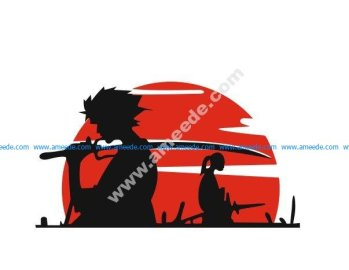 Samurai Vinyl Car Sticker