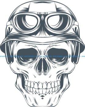 Skull Helmet Vector