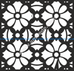 Square Floral Pattern Vector