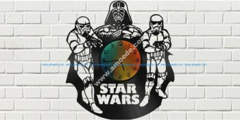 Star Wars Clock Plans Darth Vader Stormtrooper