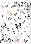 Super multi black and white butterfly vector set
