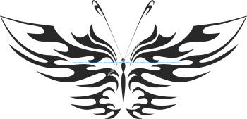 Tattoo Tribal Butterfly Vector Art