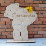 Teddy Bear and Heart 3d Puzzle Laser Cut