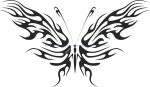 Tribal Butterfly Vector Art 09