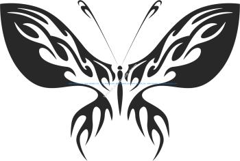 Tribal Butterfly Vector Art 13