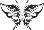 Tribal Butterfly Vector Art 19