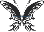 Tribal Butterfly Vector Art 22