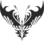 Tribal Butterfly Vector Art 24
