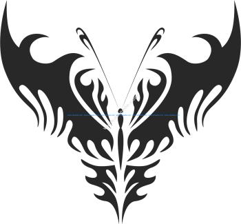 Tribal Butterfly Vector Art 24