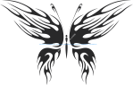 Tribal Butterfly Vector Art 27