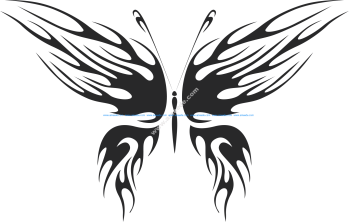 Tribal Butterfly Vector Art 27