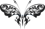 Tribal Butterfly Vector Art 30