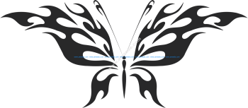 Tribal Butterfly Vector Art 45