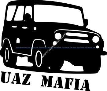 UAZ Mafia Sticker Vector