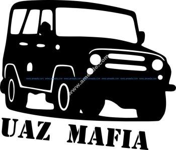 UAZ Mafia Sticker Vector