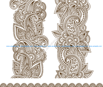 Vector Illustration Mehndi Vector