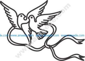 Vector Pigeon couple