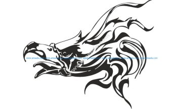 Vector illustration of Eagle head