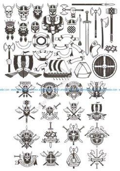Viking Elements vector art