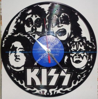Vinyl Record Wall Clock Kiss
