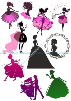 Wall Decal Sticker Princess Girl Beautiful Cinderella