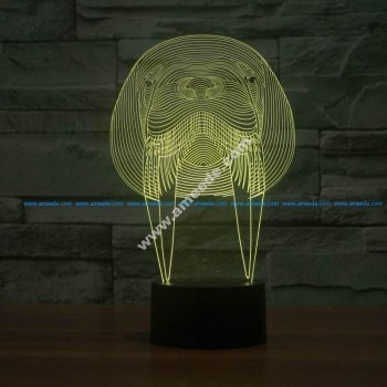 Walrus Animal 3D Lamp Vector Model
