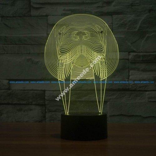 Walrus Animal 3D Lamp Vector Model