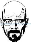Walter White Heisenberg from Breaking Bad stencil