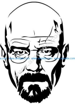 Walter White Heisenberg from Breaking Bad stencil