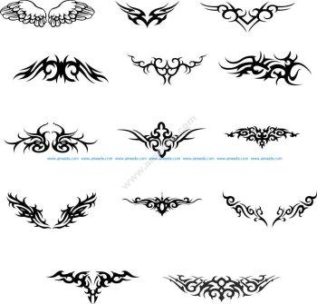 Wings Tattoo Vector set