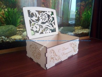 Wood Laser Cut Box Wood Puzzle Box 3mm