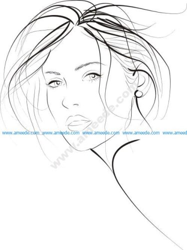 Young Fashion Woman Vector