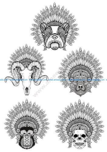 Celestial Animals T-Shirt Style Free Vector