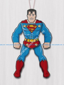 Superman Paper Puppet Free Vector