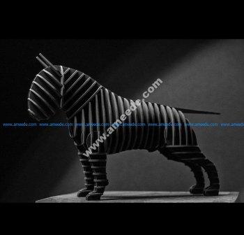 Bull terrier 3d puzzle plan