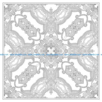 Coloriage mandala complexe carre par karakotsya 3