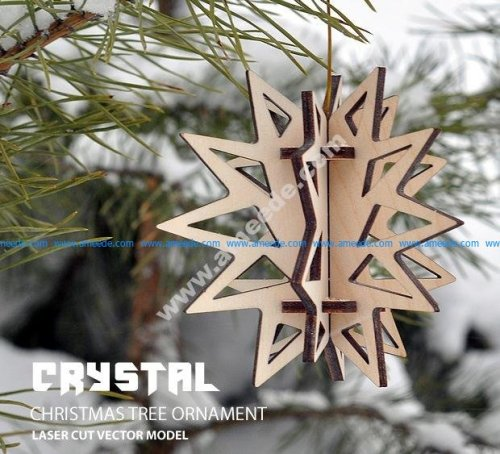 Crystal. Christmas tree ornament