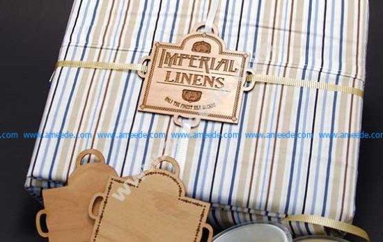 Custom Wooden Linen Label